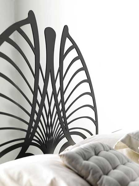 une t te de lit m tal personnalis e votre go t. Black Bedroom Furniture Sets. Home Design Ideas