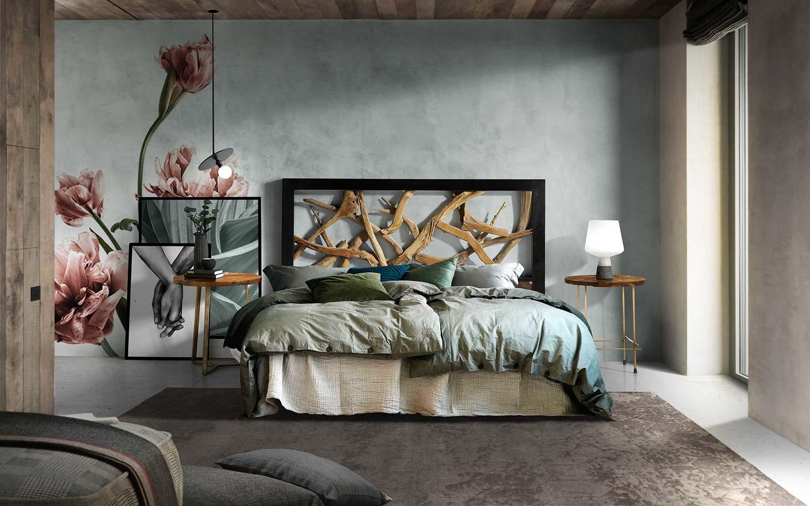 Tete De Lit Contre Radiateur tête de lit en bois, teck, métal, fer forgé, bambou