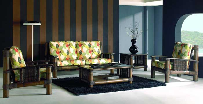 Salon en bambou teinté wenge Tropicana